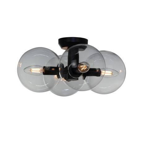 Потолочная люстра Evoluce Rosello SL424.402.04, 4xE14x40W, черный, прозрачный, металл, стекло