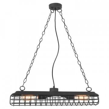 Подвесной светильник Lussole Loft Northport LSP-8040, IP21, 2xE27x40W, черный, металл
