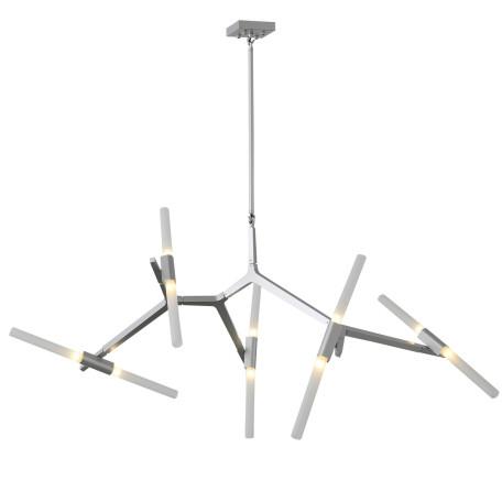 Потолочная люстра с регулировкой направления света ST Luce Laconicita SL947.102.10, 10xG9x40W, серебро, белый, металл, стекло