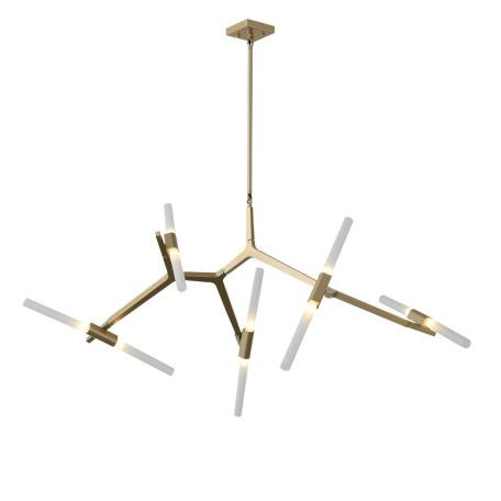 Потолочная люстра с регулировкой направления света ST Luce Laconicita SL947.202.10, 10xG9x40W, матовое золото, белый, металл, стекло