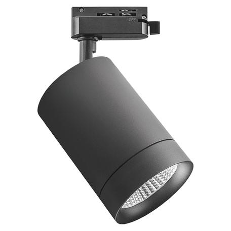 Светодиодный светильник с регулировкой направления света для шинной системы Lightstar Canno 303274, LED 35W 4000K 2240lm, черный, металл