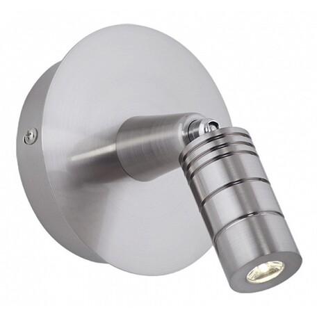 Настенный светодиодный светильник с регулировкой направления света Kink Light Метро 2613,18, LED 3W 3000K 240lm CRI>80, матовый хром, металл
