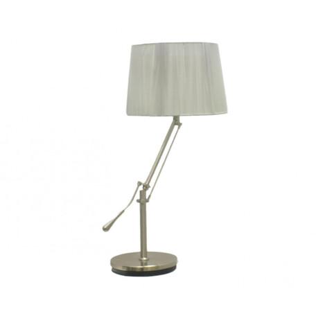Настольная лампа Kink Light Альфаси 08048,16, 1xE27x40W, никель, бежевый, металл, текстиль