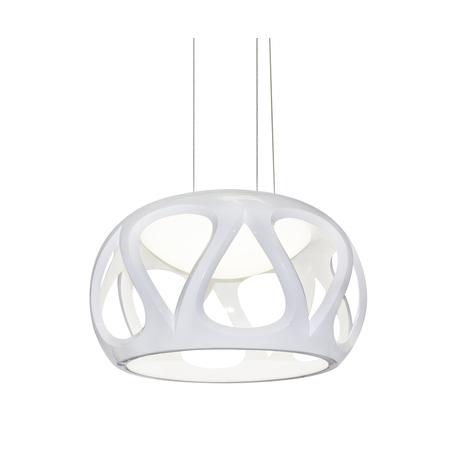Подвесной светодиодный светильник Kink Light Финели 078130, LED 24W 4000K 2160lm CRI>80, белый, пластик