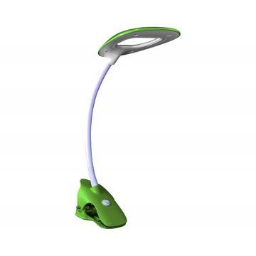 Светодиодный светильник на прищепке Kink Light Пиерия 7143,07, LED 2,7W 135lm CRI>80, зеленый, пластик