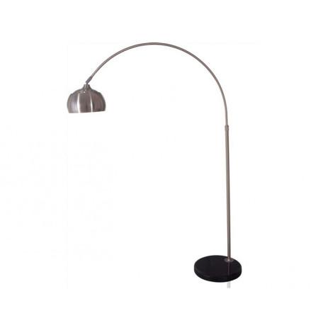 Торшер Kink Light Альфаси 7059,16, 1xE27x40W, никель, черный, металл, мрамор