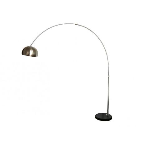 Торшер Kink Light Альфаси 7063,16, 1xE27x40W, никель, черный, металл, мрамор