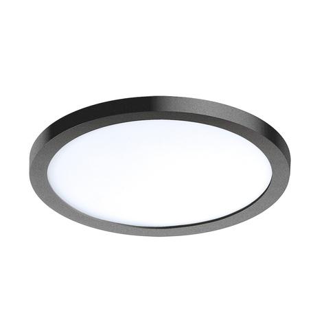 Светодиодная панель Azzardo Slim AZ2840, IP44, LED 12W 3000K 1000lm, черный, пластик