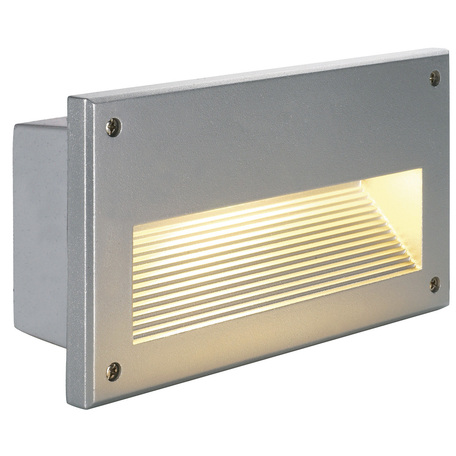 Встраиваемый настенный светильник SLV BRICK DOWNUNDER E14 229062, IP44, 1xE14x40W, серый, металл
