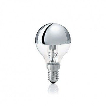 Галогенная лампа Ideal Lux LAMPADINA ALO E14 28W SFERA CROMO 061917 G45 E14 28W, 2700K (теплый) 240V, диммируемая