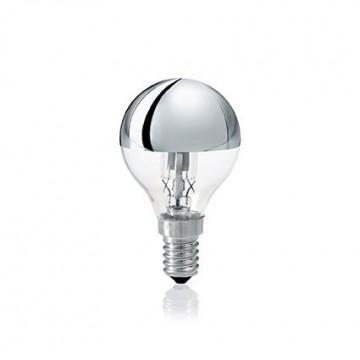 Галогенная лампа Ideal Lux LAMPADINA ALO E14 28W SFERA CROMO 061917 G45 E14 28W 2700K (теплый) 240V, диммируемая
