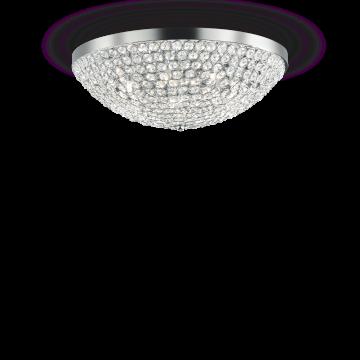 Потолочная люстра Ideal Lux ORION PL7 059150, 7xG9x40W, хром, прозрачный, металл, стекло