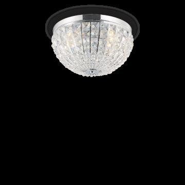 Потолочная люстра Ideal Lux CALYPSO PL4 066400, 4xE14x40W, хром, прозрачный, металл, стекло