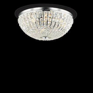 Потолочная люстра Ideal Lux CALYPSO PL8 066424, 8xE14x40W, хром, прозрачный, металл, стекло