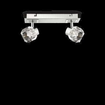 Потолочный светильник с регулировкой направления света Ideal Lux NOSTALGIA AP2 077949, 2xG9x40W, белый, хром, прозрачный, металл, стекло