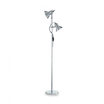 Торшер Ideal Lux POLLY PT2 CROMO 061122, 2xE27x60W, хром, металл