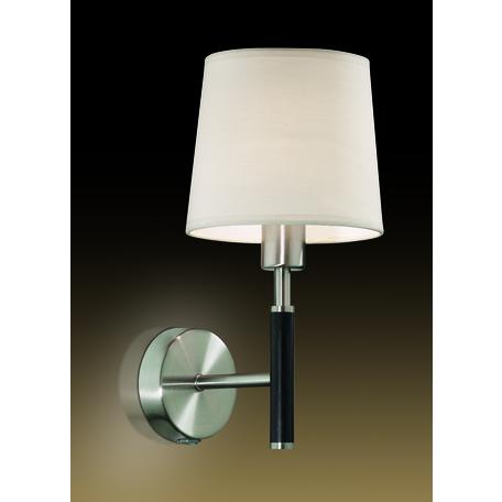 Бра Odeon Light Modern Glen 2266/1W, 1xE14x40W, черный, белый, металл, текстиль