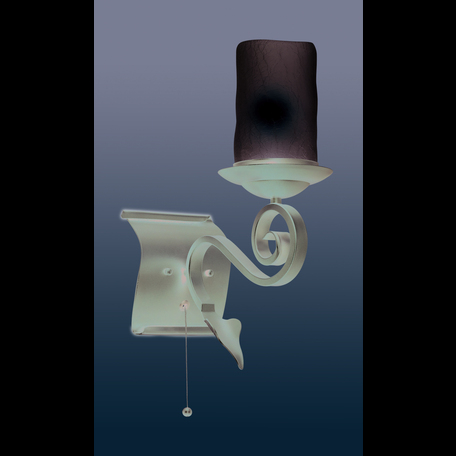 Бра Odeon Light Bosta 2438/1W, 1xE27x60W, коричневый, белый, металл, стекло - миниатюра 1