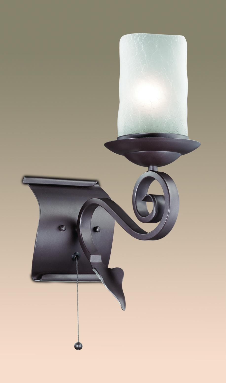 Бра Odeon Light Bosta 2438/1W, 1xE27x60W, коричневый, белый, металл, стекло - фото 1