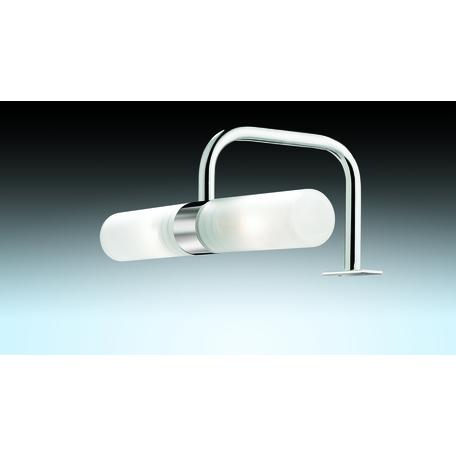 Мебельный светильник Odeon Light Drops Izar 2445/2, IP44, 2xG9x40W, хром, белый, металл, стекло