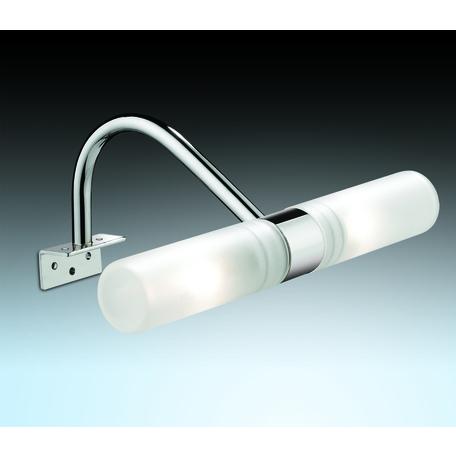 Мебельный светильник Odeon Light Izar 2452/2, IP44, 2xG9x40W, хром, белый, металл, стекло
