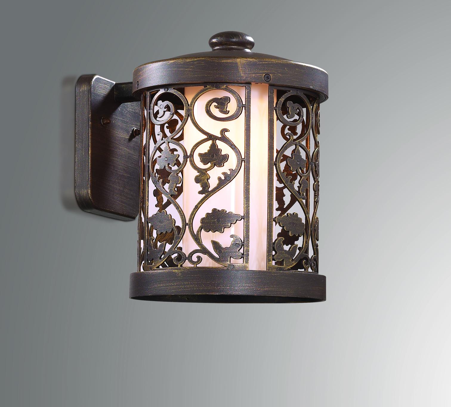 Настенный фонарь Odeon Light Nature Lagra 2286/1W, IP44, 1xE27x100W, коричневый, металл - фото 1