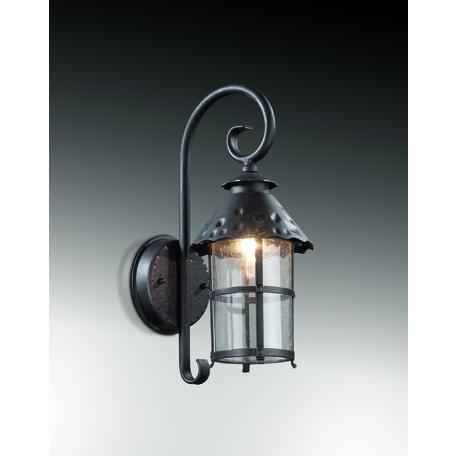 Настенный фонарь Odeon Light Lumi 2312/1W, IP44, 1xE27x60W, коричневый, прозрачный, металл, ковка, металл со стеклом
