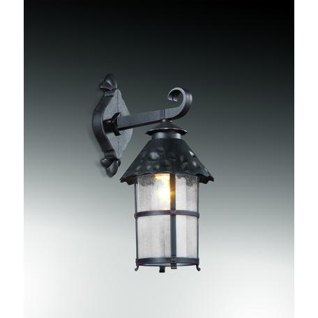 Настенный фонарь Odeon Light Lumi 2313/1W, IP44, 1xE27x60W, коричневый, прозрачный, металл, ковка, металл со стеклом - миниатюра 1