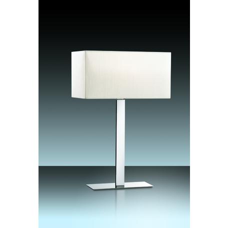 Настольная лампа Odeon Light Norte 2421/1T, 1xE27x60W, хром, бежевый, металл, текстиль - миниатюра 1