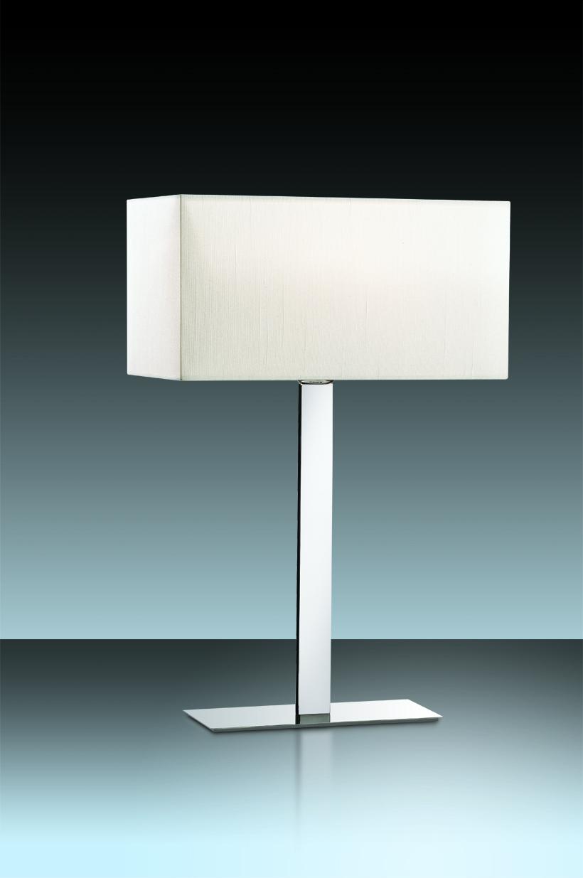 Настольная лампа Odeon Light Norte 2421/1T, 1xE27x60W, хром, бежевый, металл, текстиль - фото 1