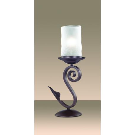 Настольная лампа Odeon Light Bosta 2438/1T, 1xE27x60W, коричневый, белый, металл, стекло