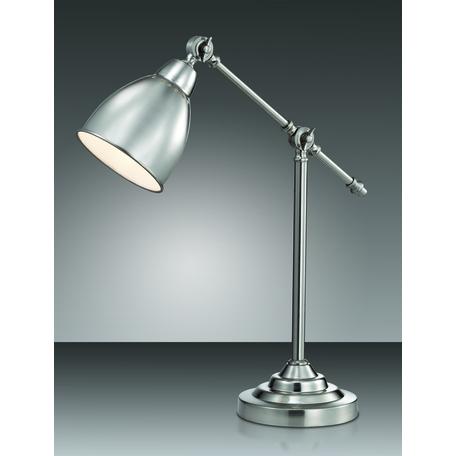 Настольная лампа Odeon Light Cruz 2413/1T, 1xE27x60W, никель, металл