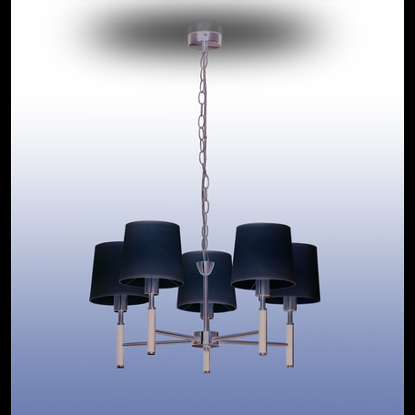 Подвесная люстра Odeon Light Modern Glen 2266/5, 5xE14x40W, черный, белый, металл, текстиль