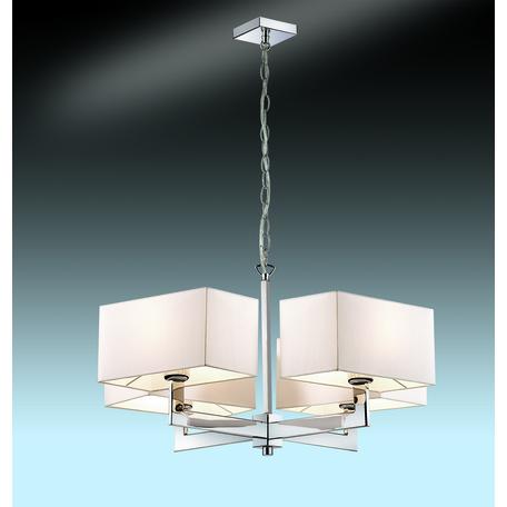 Подвесная люстра Odeon Light Modern Norte 2421/4, 4xE27x60W, хром, бежевый, металл, текстиль