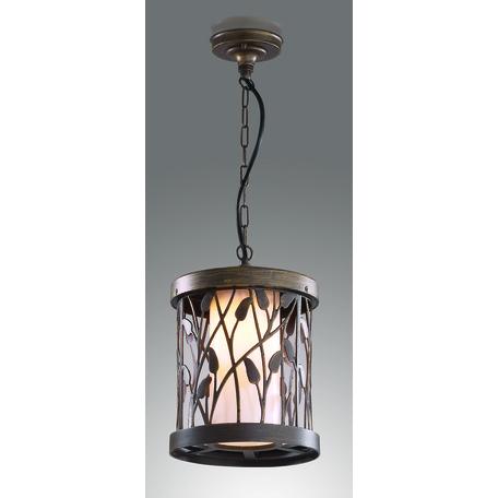Подвесной светильник Odeon Light Lagra 2287/1, IP44, 1xE27x100W, коричневый с золотой патиной, коричневый, металл