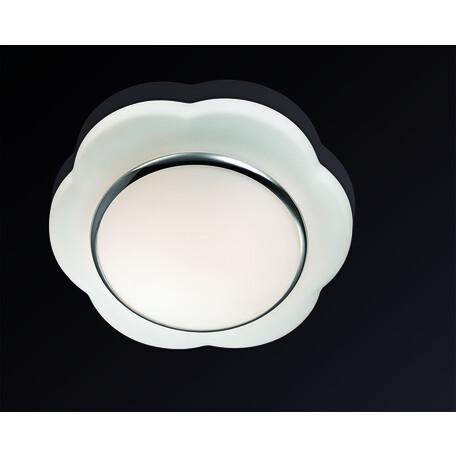 Потолочный светильник Odeon Light Baha 2403/2C, IP44, 2xE27x40W, белый, хром, металл, стекло