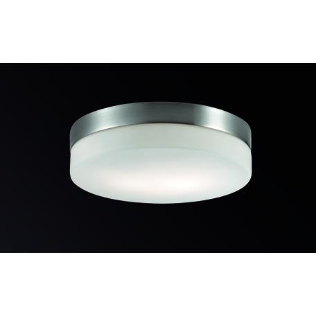 Потолочный светильник Odeon Light Presto 2405/2A, IP44, 2xE27x60W, никель, белый, металл, стекло