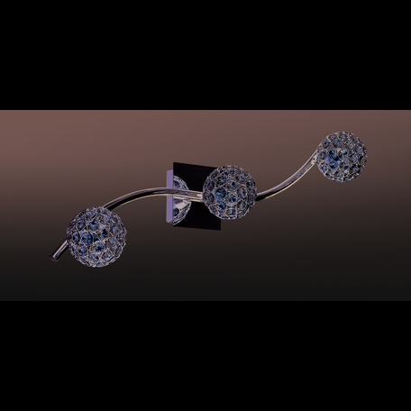 Потолочный светильник Odeon Light Aketi 2472/3W, 3xG9x40W, хром, прозрачный, металл, хрусталь