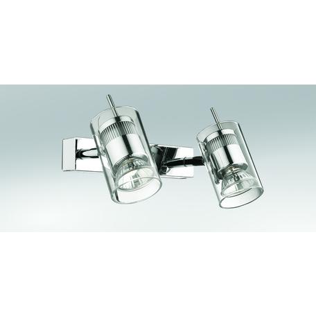 Потолочный светильник с регулировкой направления света Odeon Light Yang 2474/2W, 2xGU10x50W, хром, прозрачный, металл, стекло - миниатюра 1