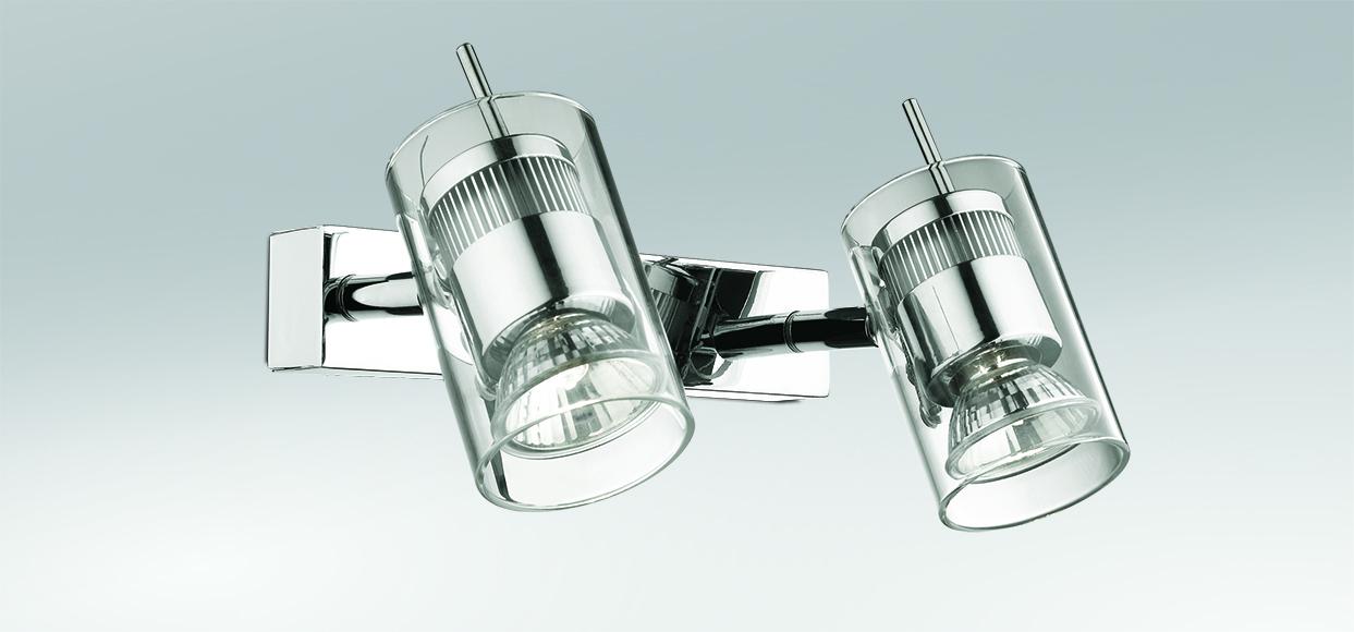 Потолочный светильник с регулировкой направления света Odeon Light Yang 2474/2W, 2xGU10x50W, хром, прозрачный, металл, стекло - фото 1