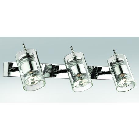 Потолочный светильник с регулировкой направления света Odeon Light Yang 2474/3W, 3xGU10x50W, хром, прозрачный, металл, стекло