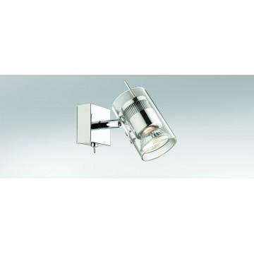 Настенный светильник с регулировкой направления света Odeon Light Yang 2474/1W, 1xGU10x50W, хром, прозрачный, металл, стекло