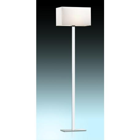 Торшер Odeon Light Norte 2421/1F, 1xE27x60W, хром, бежевый, металл, текстиль