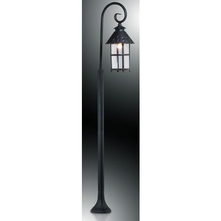 Уличный фонарь Odeon Light Lumi 2314/1F, IP44, 1xE27x60W, коричневый, прозрачный, металл, ковка, металл со стеклом
