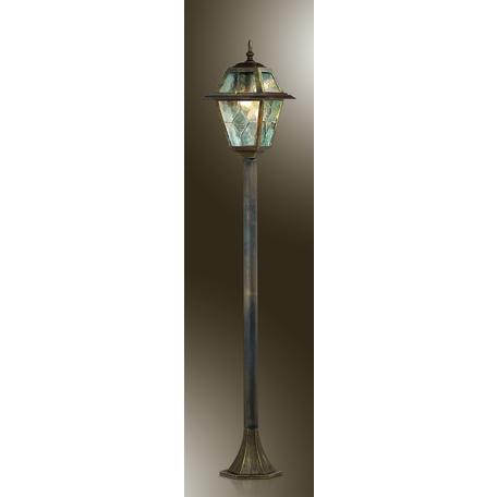 Уличный фонарь Odeon Light Outer 2318/1F, IP44, 1xE27x60W, коричневый с золотой патиной, прозрачный, металл, металл со стеклом