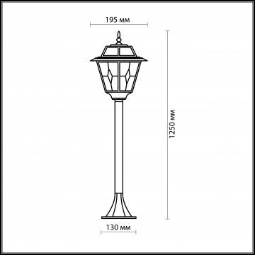 Схема с размерами Odeon Light 2318/1F