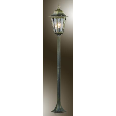 Уличный фонарь Odeon Light Nature Lano 2322/1F, IP44, 1xE27x60W, коричневый с золотой патиной, прозрачный, металл, металл со стеклом