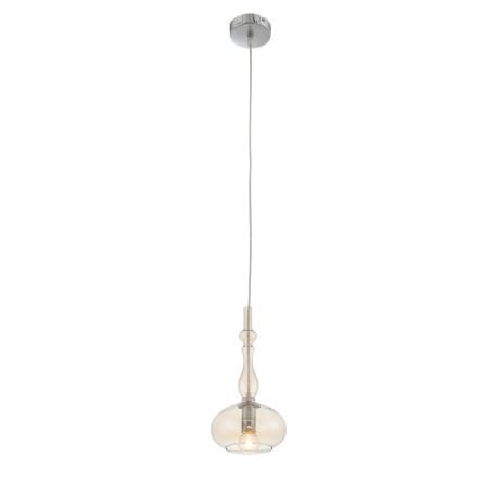 Подвесной светильник ST Luce Biorno SL364.113.01, 1xE14x40W, хром, янтарь, металл, стекло