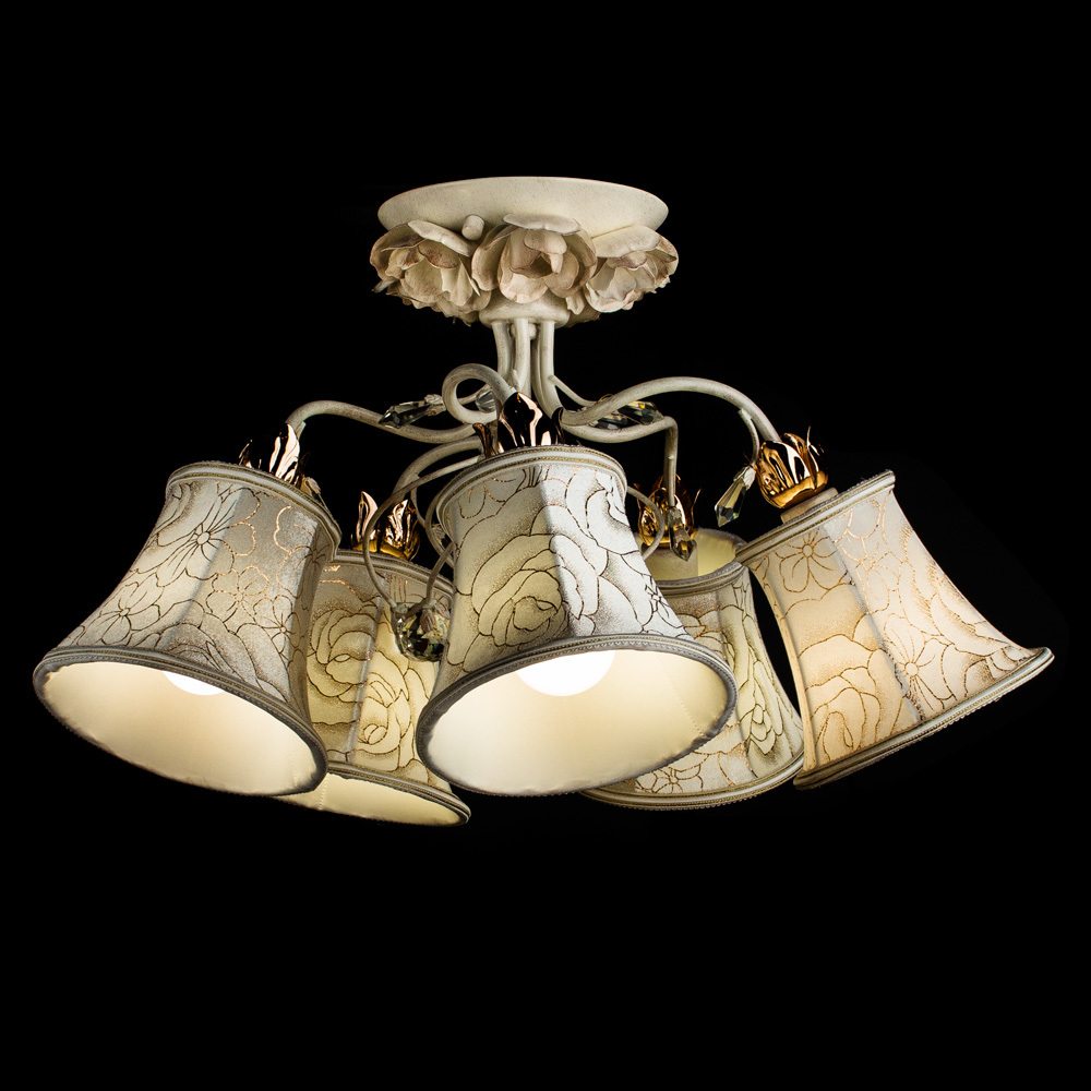 Arte Lamp Bellis A2819PL-5WG, 5xE14x60W, белый - фото 2