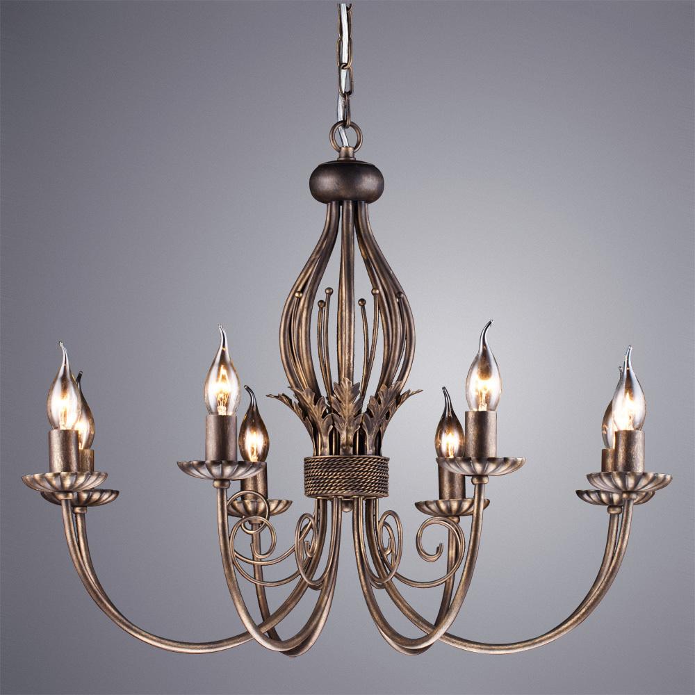 Arte Lamp Dolce A3057LM-8BR, 8xE14x60W - фото 1
